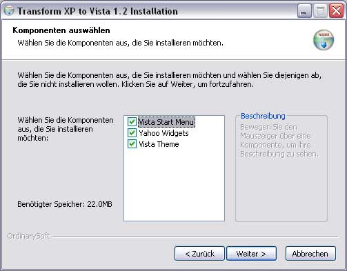 Transform XP to Vista
