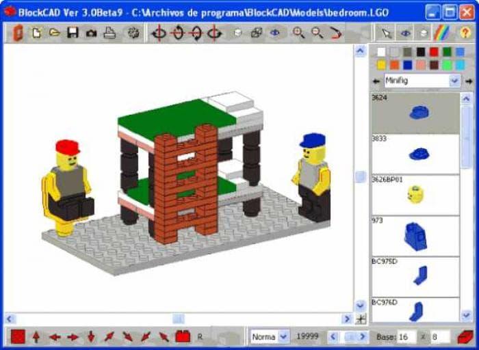 blockcad es una herramienta gratuita para disear objetos con piezas de lego el famoso juego de ladrillos con ella podrs crear tus propios modelos lego y
