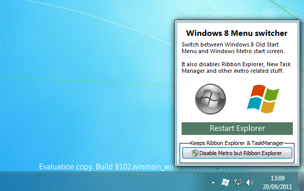 Windows 8 Menu Switcher