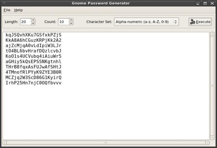 Gnome Password Generator