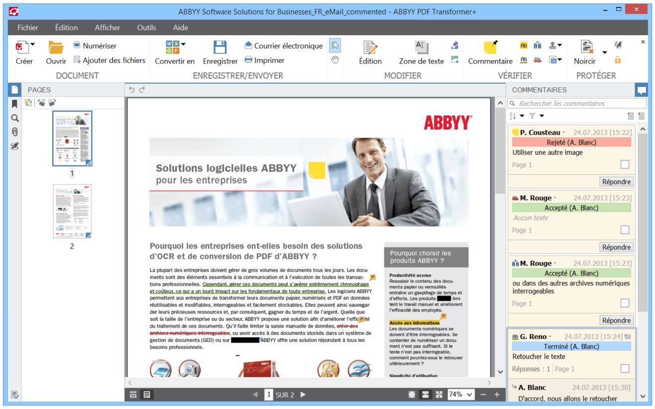 transformer les documents pdf en word