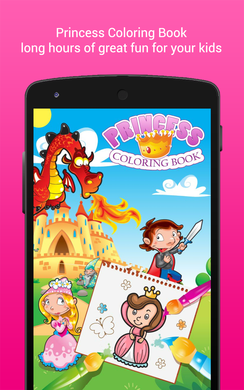 Princess Coloring Book Girls