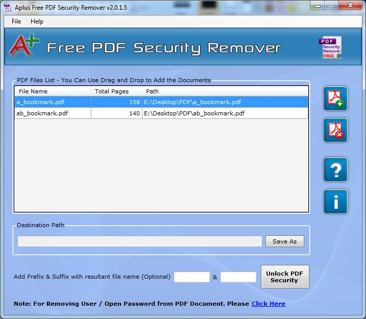 Aplus PDF Security Remover – Free