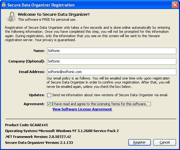 Secure Data Organizer