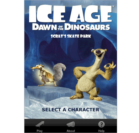 Ice Age Dawn of the Dinosaurs Scrat's Skate Park