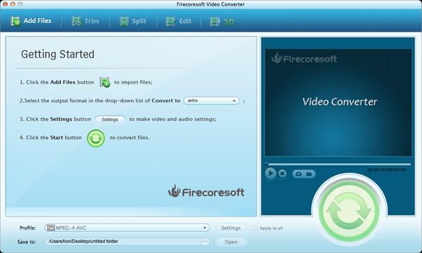 Firecoresoft Mac Video Converter