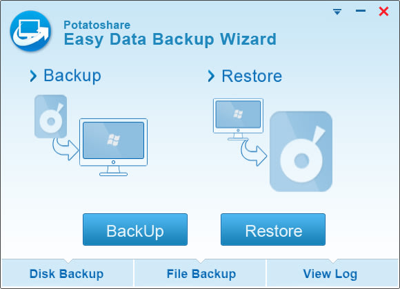 Potatoshare Easy Data Backup Wizard