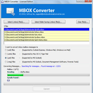 Eudora Mail MBX to PST