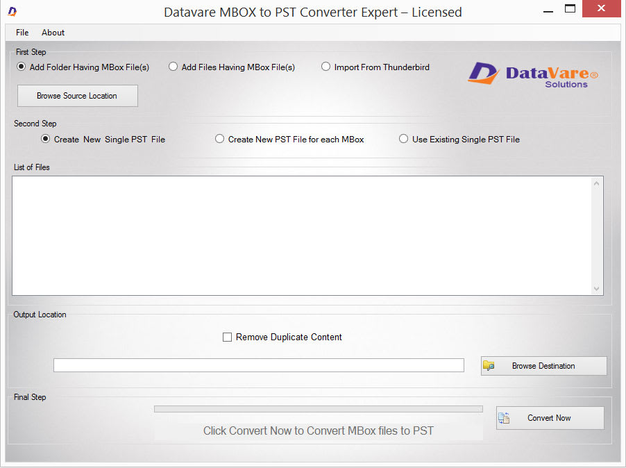 Datavare MBOX to PST Converter Expert