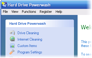 Hard Drive Powerwash