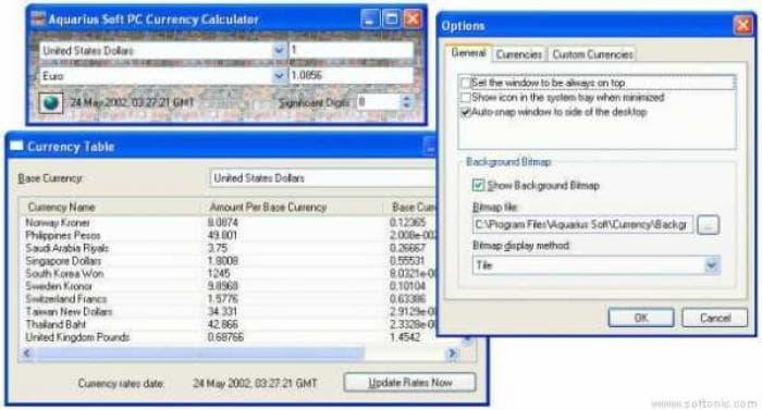 Aquarius Soft PC Currency Calculator