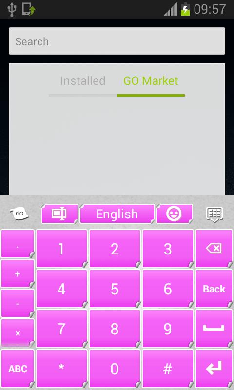 Pink Keyboard Stickers