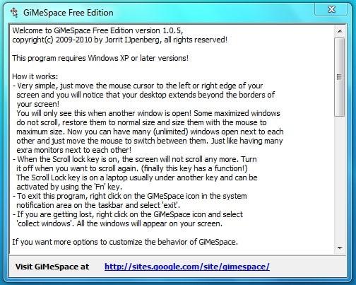 GiMeSpace Free Edition