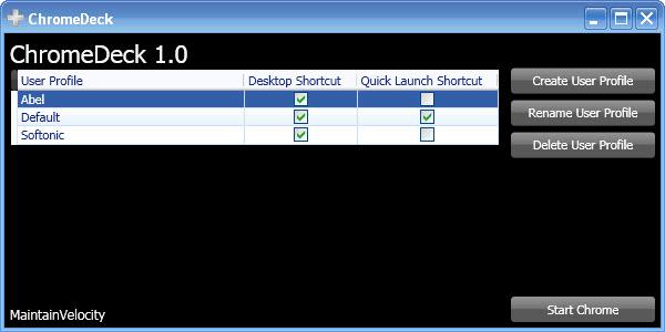 ChromeDeck 1.0