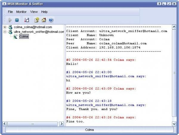 MSN Spy & Sniffer