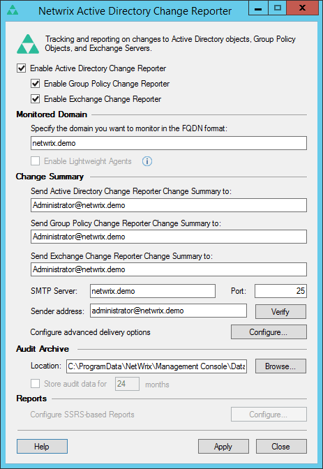 Netwrix Change Notifier for Active Directory
