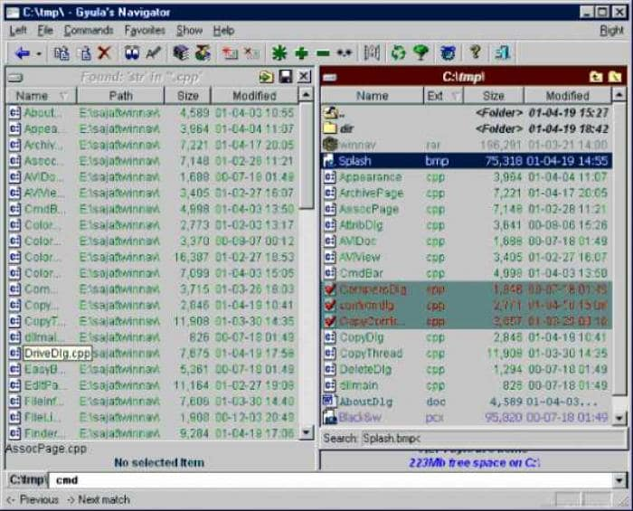 Gyula's Windows Navigator