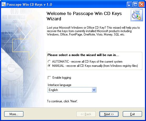 Passcape Win CD Keys