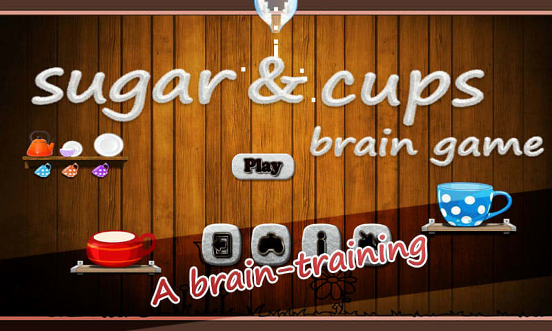 Sugar And Cup Brain Game