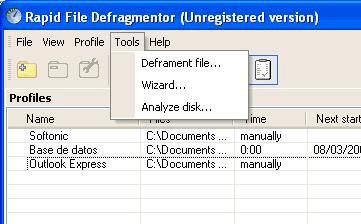 Rapid-File Defragmenter