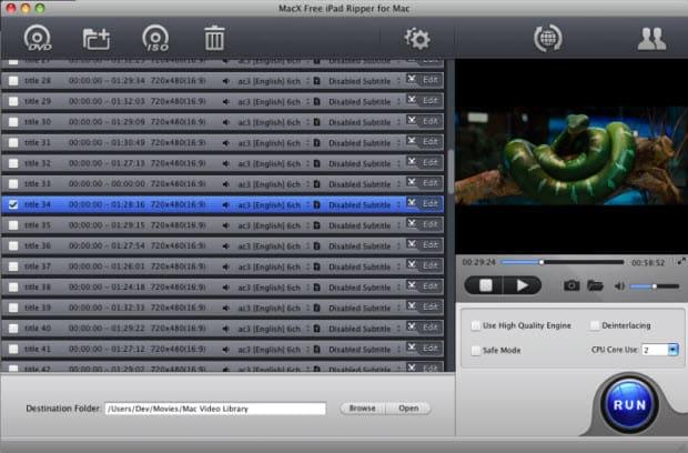 MacX Free iPad Ripper for Mac