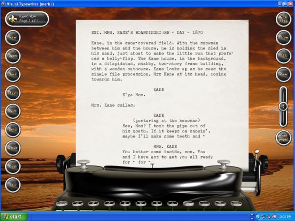 Visual Typewriter