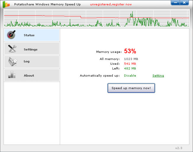 Potatoshare Memory Speed Up