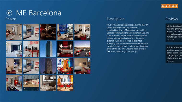 KAYAK Hotels  para Windows 10