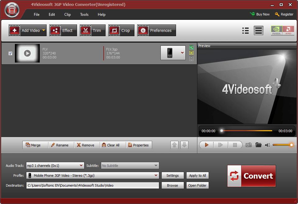 4Videosoft 3GP Vidéo Convertisseur