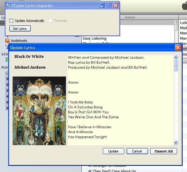 iTunes Lyrics importer (iLyrics)