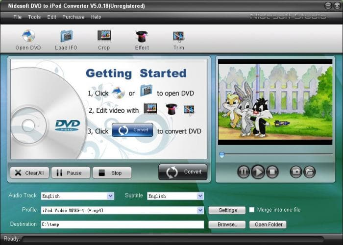 Nidesoft DVD to iPod Converter