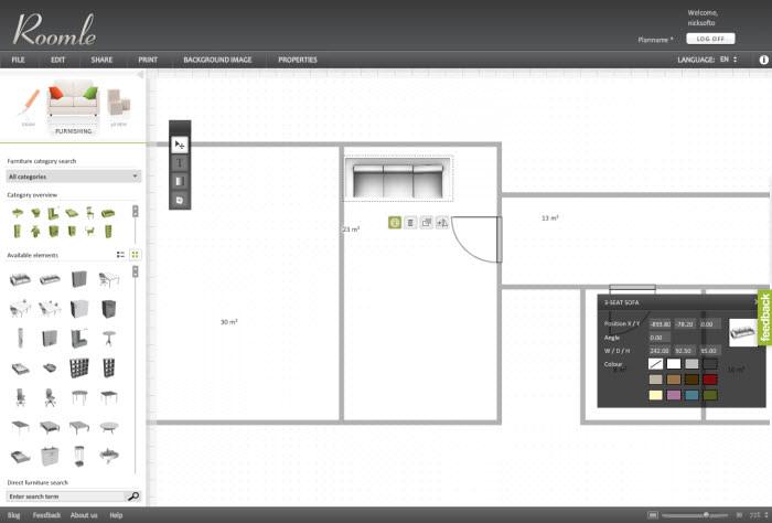 crear el plano de tu casa y aadirle elementos de que sean sus dimensiones as podrs ver cmo disponer en ella tus muebles y ornamentos