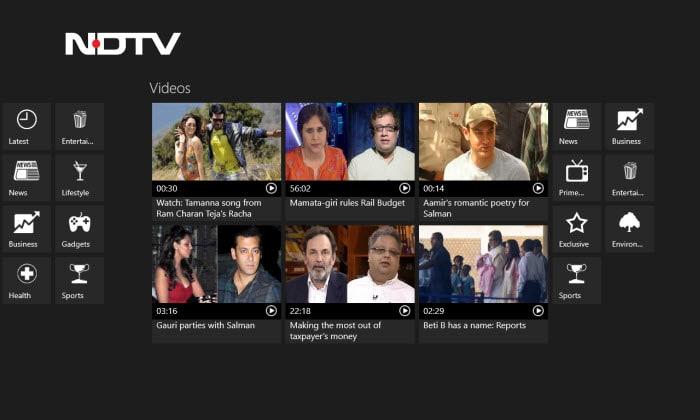 NDTV para Windows 10