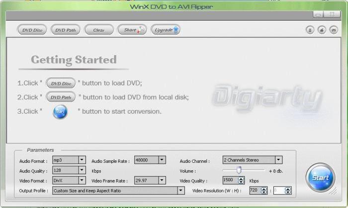 WinX DVD to AVI Ripper