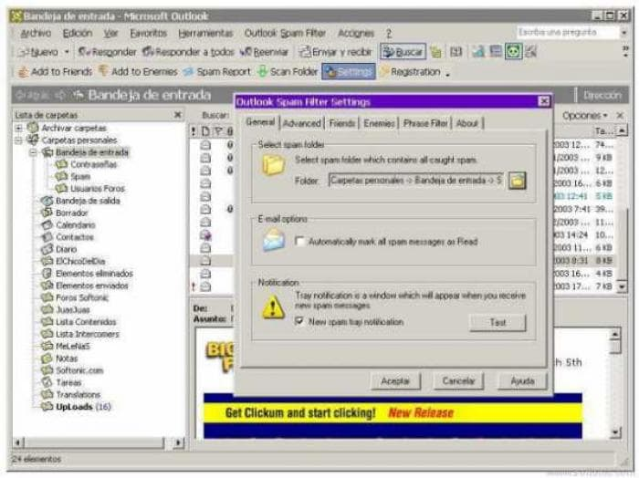 Outlook Spam Filter