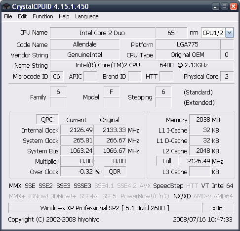 CrystalCPUID Portable