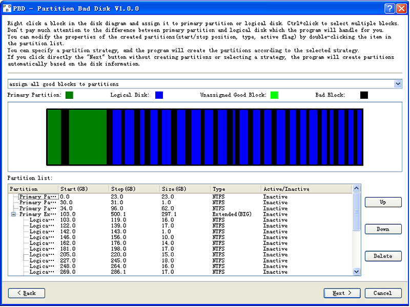 Partition Bad Disk