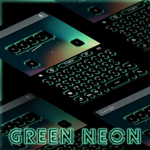 Keyboard Green Neon