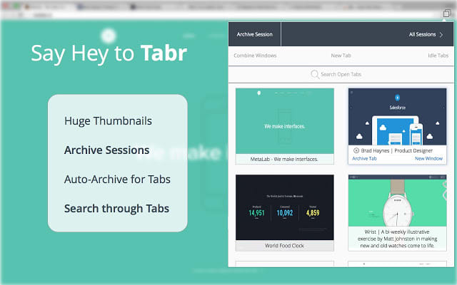 Tabr | Chrome Tab Manager and Memory Saver