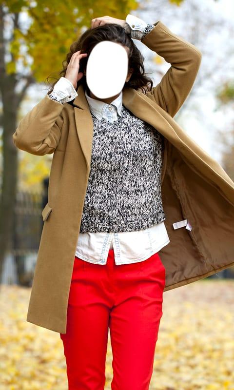 Girl Jacket Photo Montage