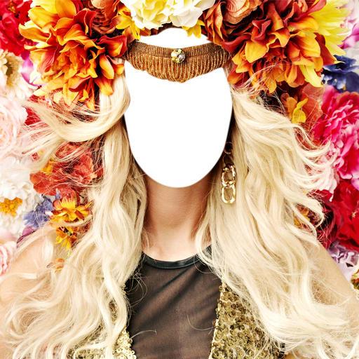 Woman Hair Flowers Editor