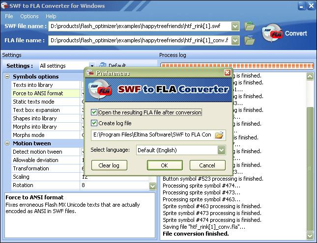 SWF to FLA Converter