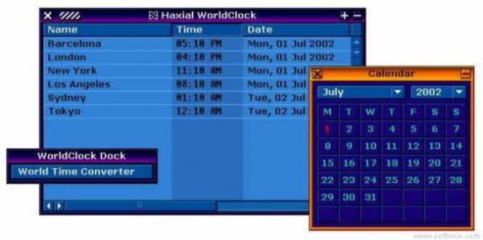 Haxial WorldClock