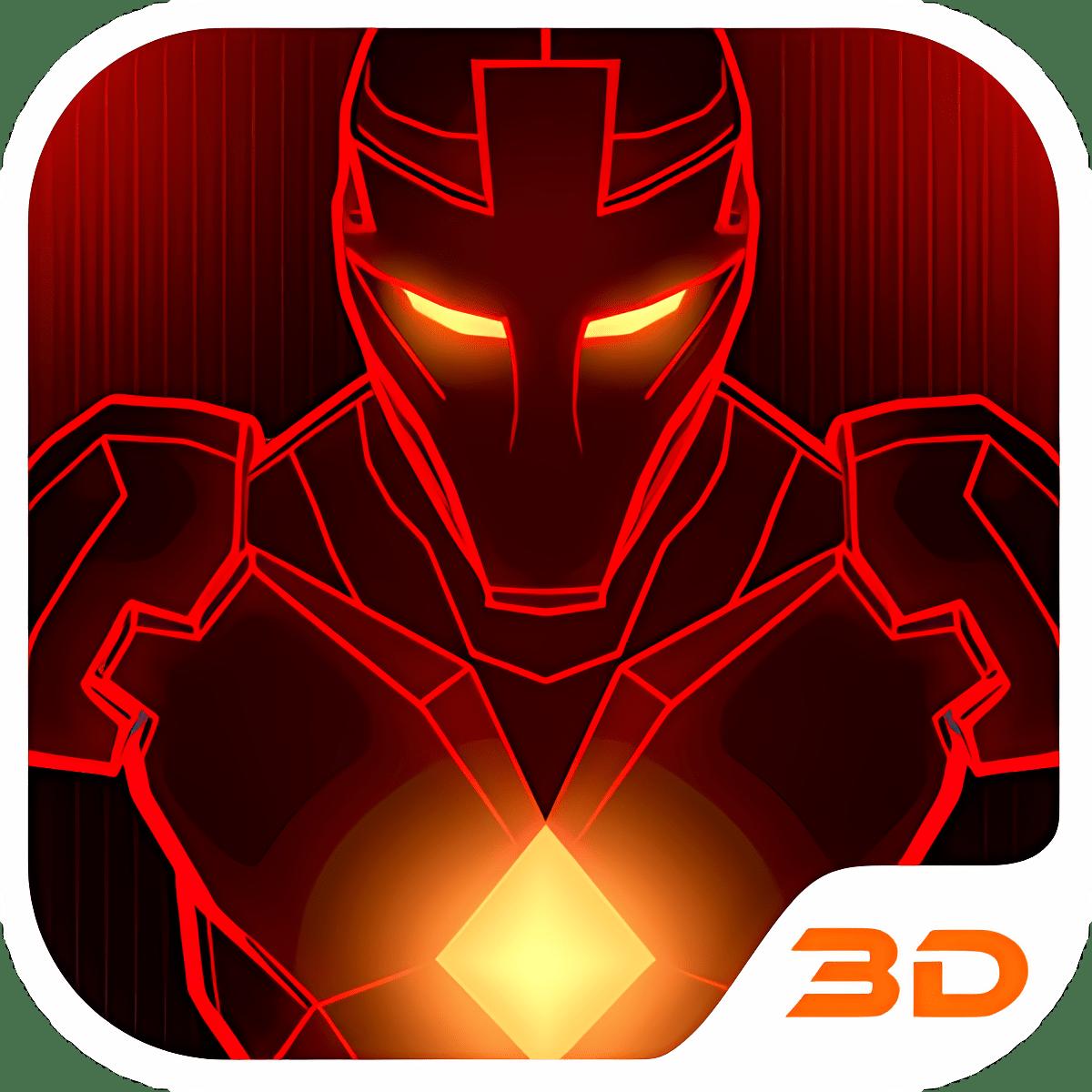 Red Iron Hero 3D Theme
