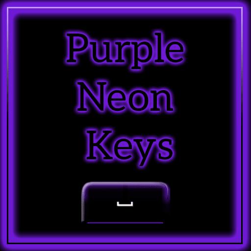 Keyboard Color Neon Purple