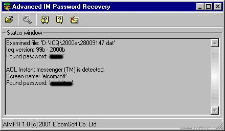 Advanced Instant Messengers Password Recovery