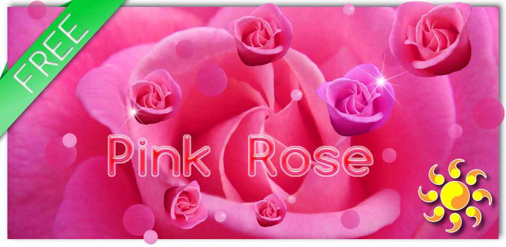 Pink Rose Live Wallpaer