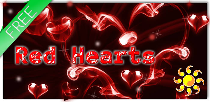 Red Hearts Live Wallpaper