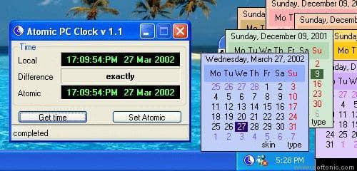 Atomic PC Clock