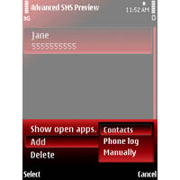 Advanced SMS Preview